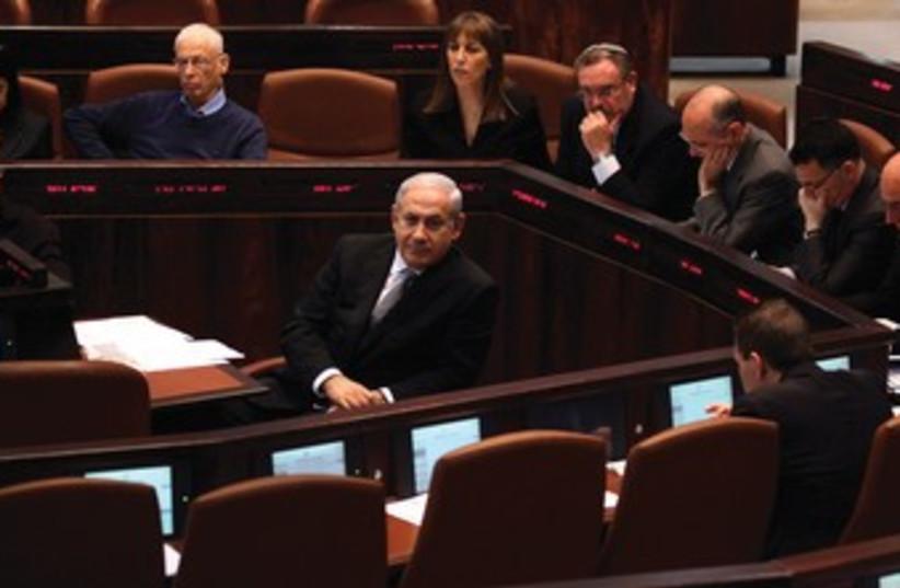 Netanyahu and cabinet 370 (photo credit: Marc Israel Sellem/The Jerusalem Post)