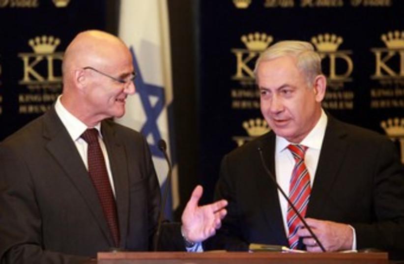 Bibi with EU Ambassador 370 (photo credit: Marc Israel Sellem / The Jerusalem Post)