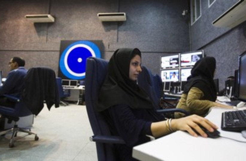 Press TV Newsroom R370 (photo credit: REUTERS/Raheb Homavandi)