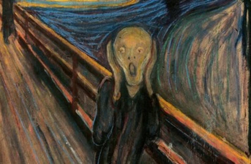 Edvard Munch's 'The Scream' 390 (photo credit: Wikimedia Commons)