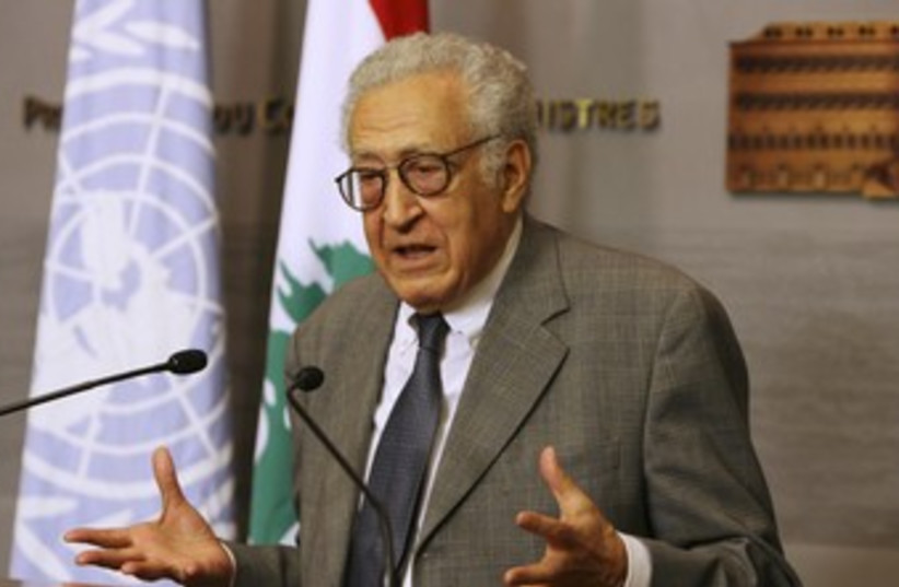 Arab League Syria envoy Lakhdar Brahimi 370 (R) (photo credit: REUTERS)