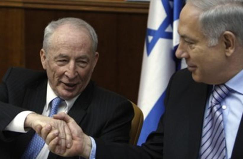 Netanyahu and Attorney-General Yehuda Weinstein 370 (photo credit: REUTERS)