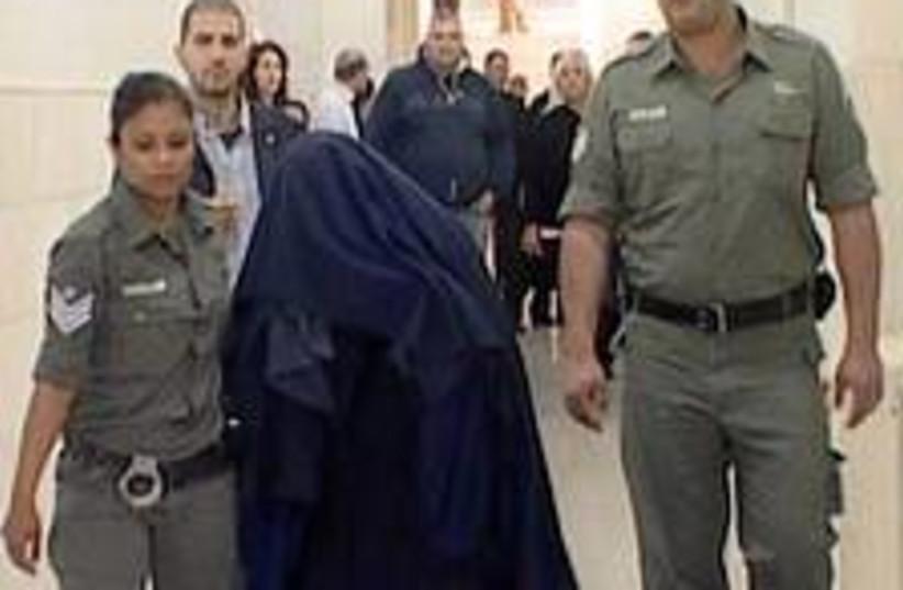 Burka brigade leader  (photo credit: Channel 10 )