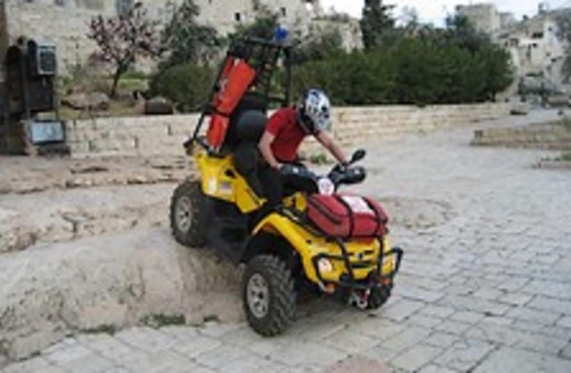 tractor ambulance 224.88 (photo credit: Judea and Samaria Rescue Service)