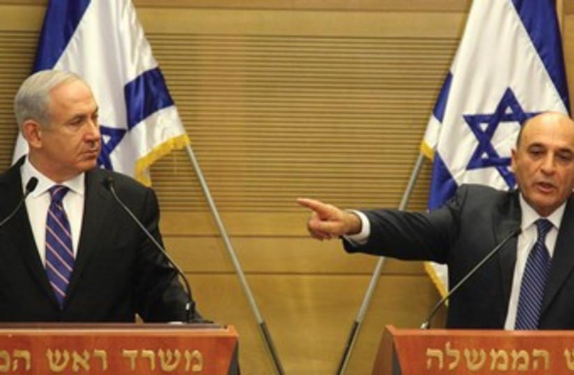 Netanyahu and Mofaz 370 (photo credit: Marc Israel Sellem)