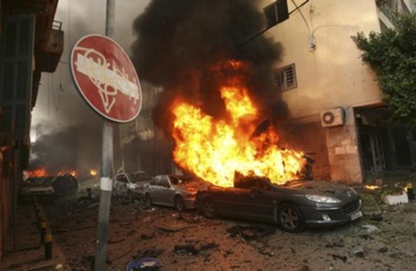 Car bomb damage in Beirut, Lebanon 390 (photo credit: reuters)