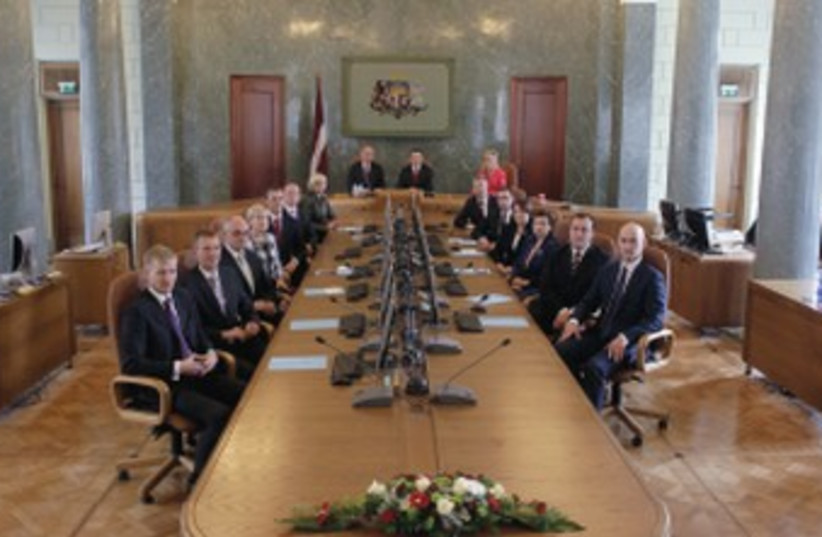 Latvia's Cabinet 370 (photo credit: REUTERS)