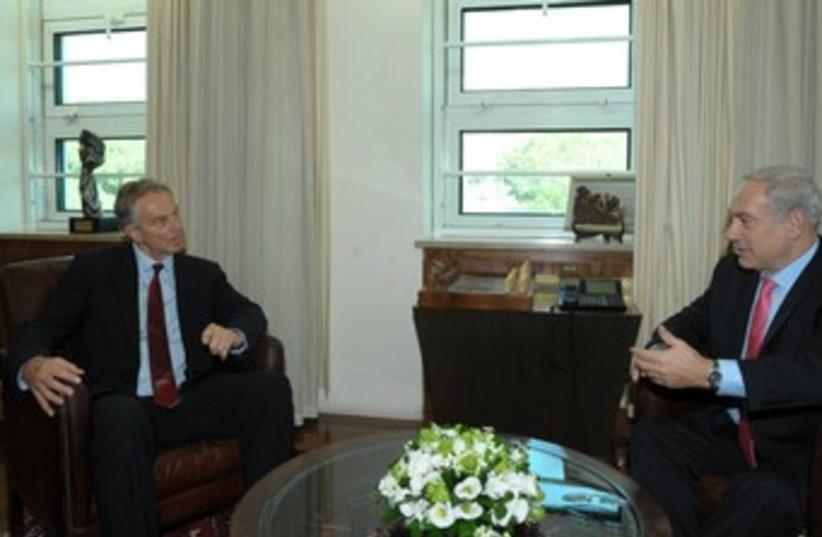 Netanyahu and Tony Blair 370 (photo credit: Amos Ben Gershom/GPO)