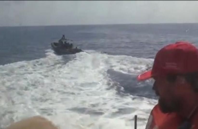 IDF prepares to board 'Estelle' ship 370 (photo credit: Screenshot)