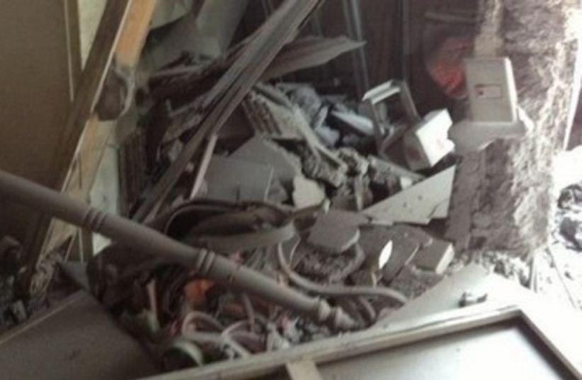 House damaged in rocket attack