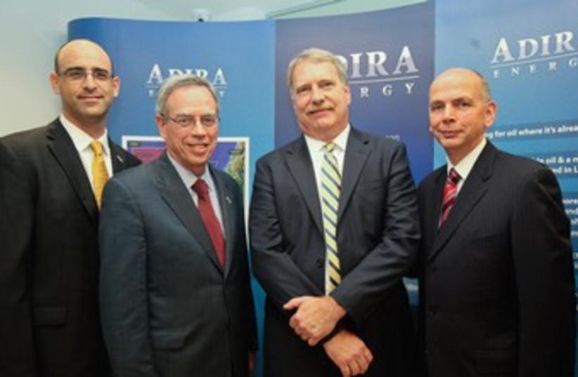Canadian Minister Oliver visits Adira Energy in TA 370 (photo credit: Courtesy Adira Energy)