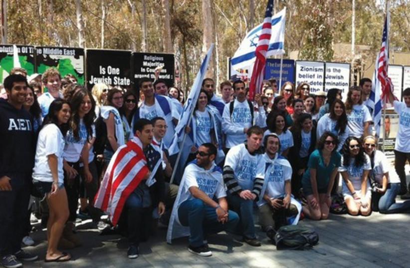 Pro-Israel students on US campus 521 (photo credit: Courtesy  JAFI)