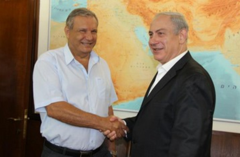 MK Arye Bibi with PM Netanyahu 390 (photo credit: Arye Bibi / Facebook)