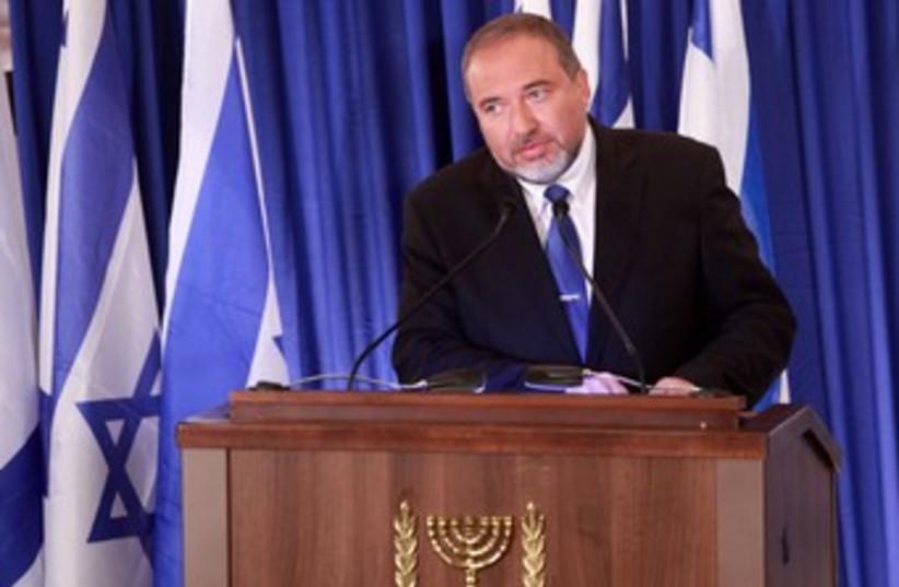 Foreign Minister Avigdor Liberman 370 (photo credit: Marc Israel Sellem/The Jerusalem Post)