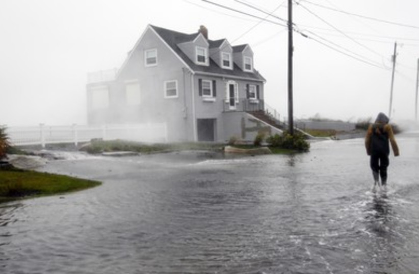 Flooding in Scituate ahead of Hurricane Sandy