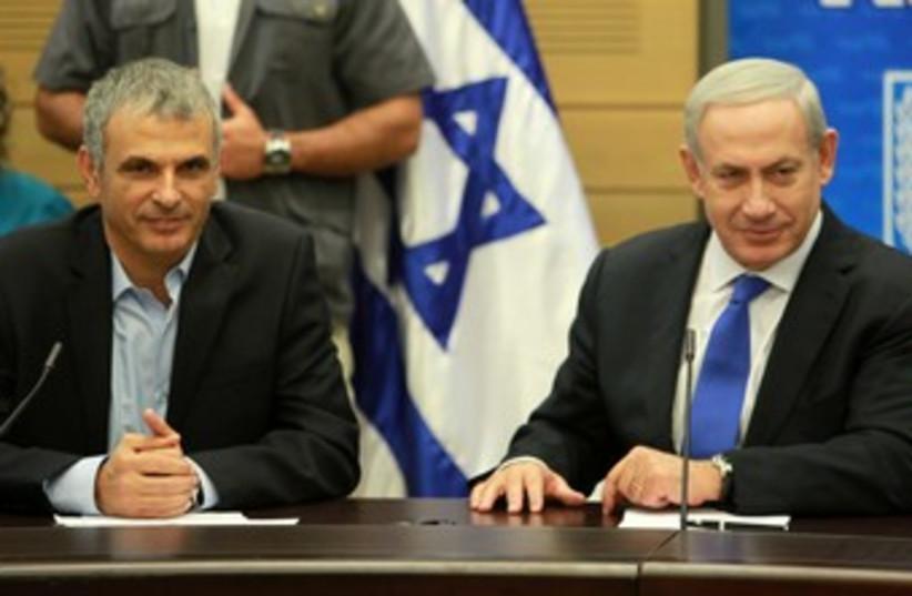 PM Netanyahu and Moshe Kahlon 370 (photo credit: Marc Israel Sellem)