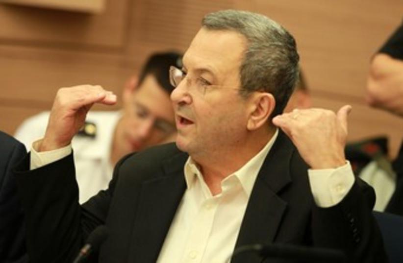 Ehud Barak Gestures 370 (photo credit: Marc Israel Sellem/The Jerusalem Post)