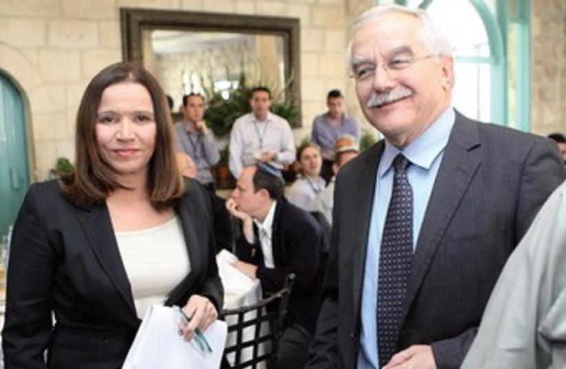 Shelly Yacimovich and Yair Shamir 370 (photo credit: Hagay Offen)