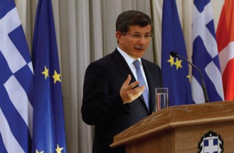 Turkish foreign minister Ahmet Davutoglu 370 (photo credit: REUTERS)
