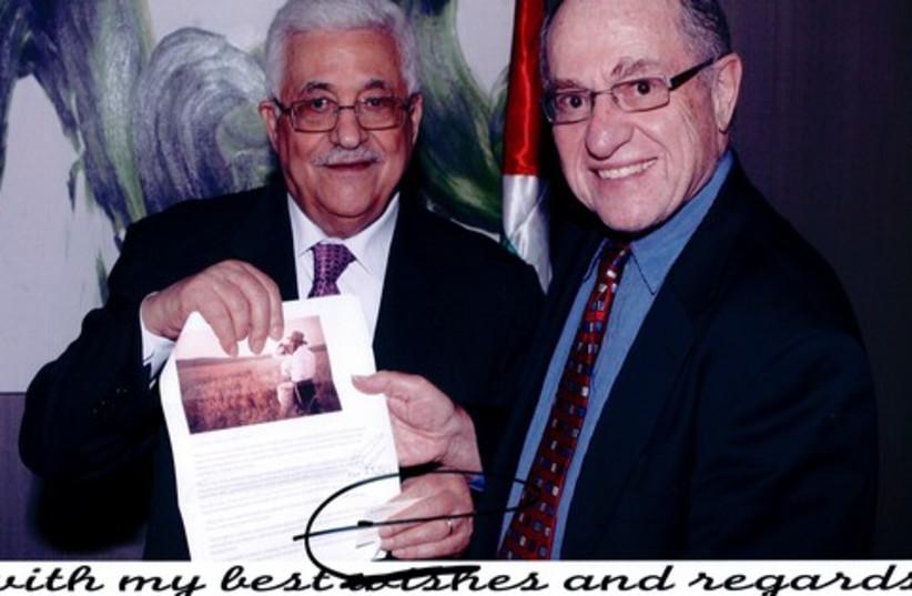 Dershowitz and Abbas 521 (photo credit: COURTESY ALAN M. DERSHOWITZ)