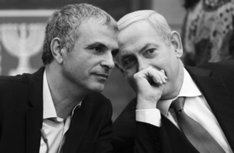 PM Netanyahu and Moshe Kahlon 370 (photo credit: REUTERS)