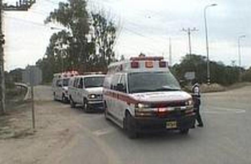 nahal oz ambulance 224 (photo credit: Channel 10)