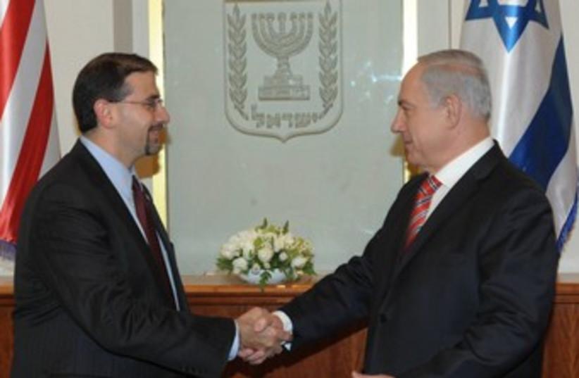 Netanyahu and Shapiro 370 (photo credit: Courtesy PMO)