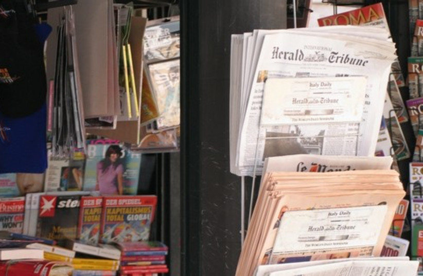 Newspapers (photo credit: Wikicommons)