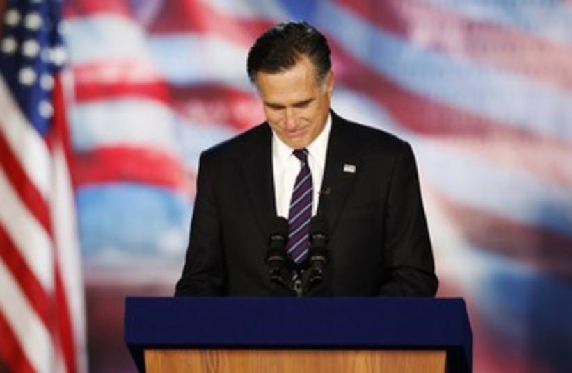 Mitt Romney lookin all sad 370 (R) (photo credit: Mike Segar / Reuters)