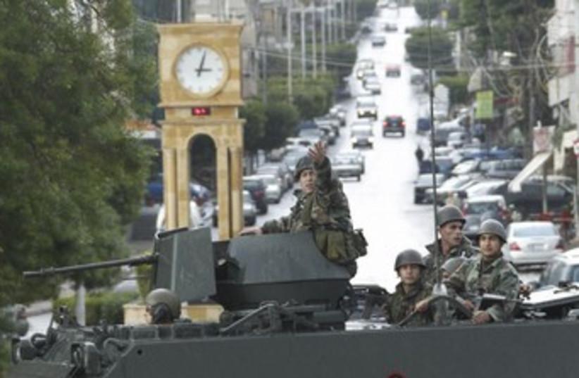 Lebanese soldiers 370 (photo credit: REUTERS/Ali Hashisho)