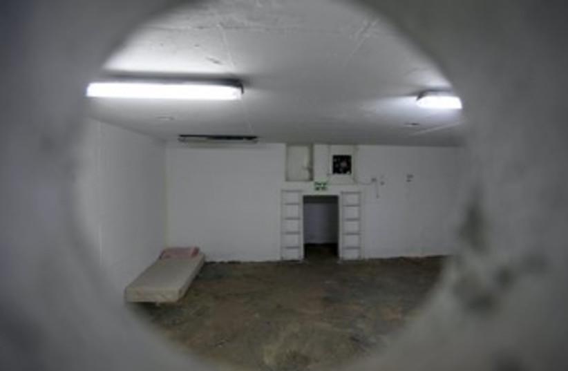 Bomb Shelter (empty) 370 (photo credit: Marc Israel Sellem/The Jerusalem Post)