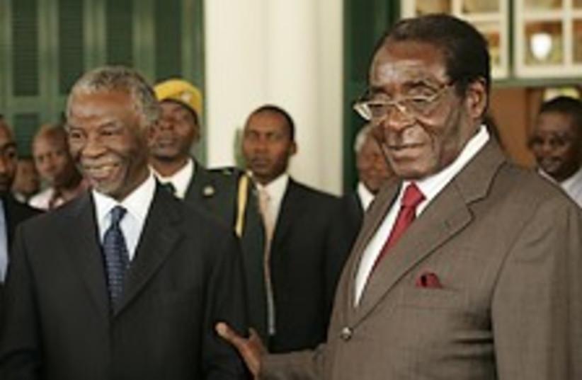 Mugabe Mbeki 224.88 (photo credit: AP)