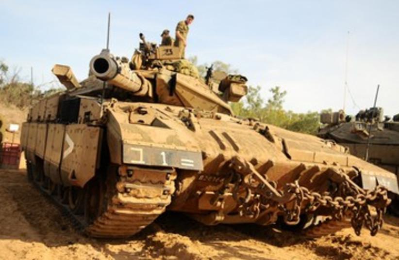 IDF forces mobilizing at Gaza border 390 (photo credit: IDF Spokesman's Office)
