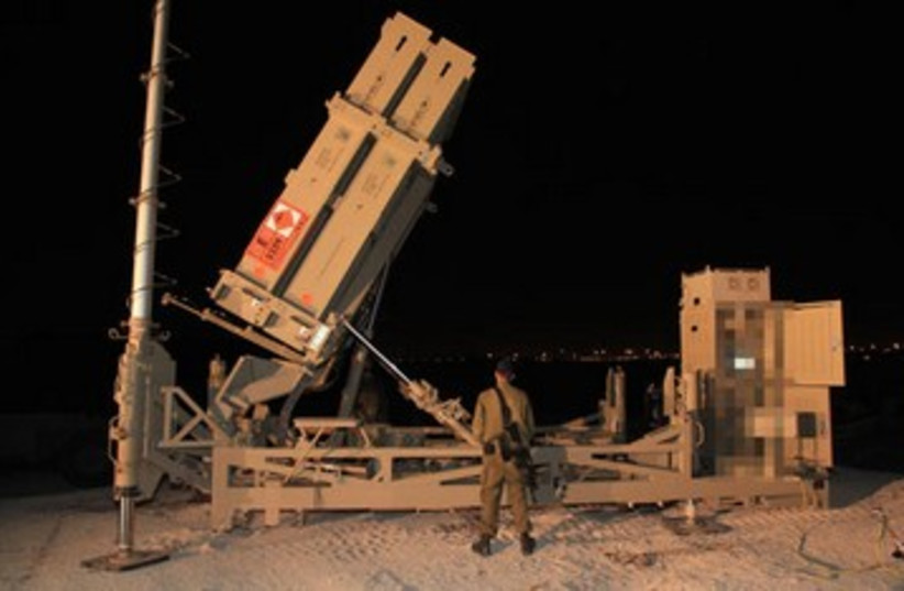 Iron Dome battery. (photo credit: IDF SPOKESMAN'S OFFICE)