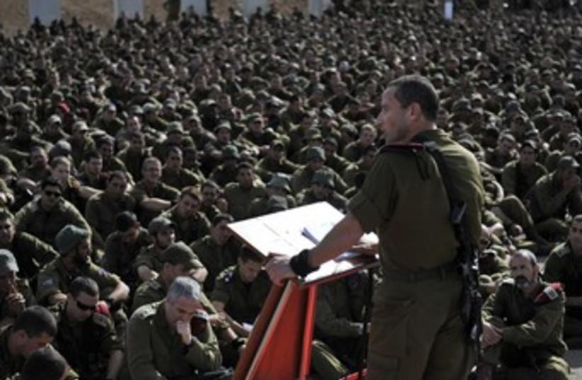 IDF reservists during Operation Pillar of Defense 370 (photo credit: IDF Spokesperson)