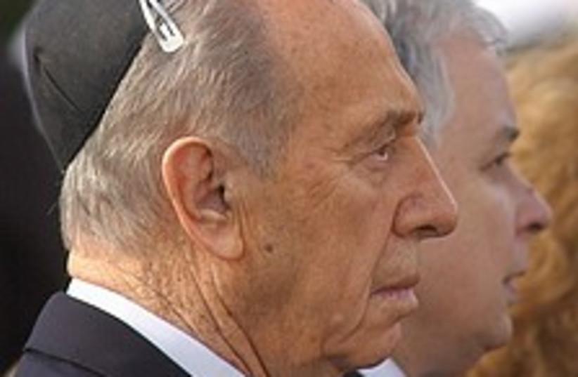 Peres Kaczynski 224 88 (photo credit: AP)