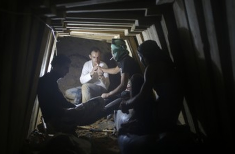 Gaza smuggling tunnel 370 (photo credit: Mohammed Salem / Reuters)