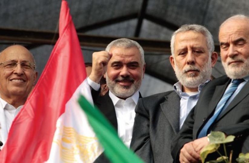 Hamas victory 521 (photo credit: Ahmed Zakot/Reuters)