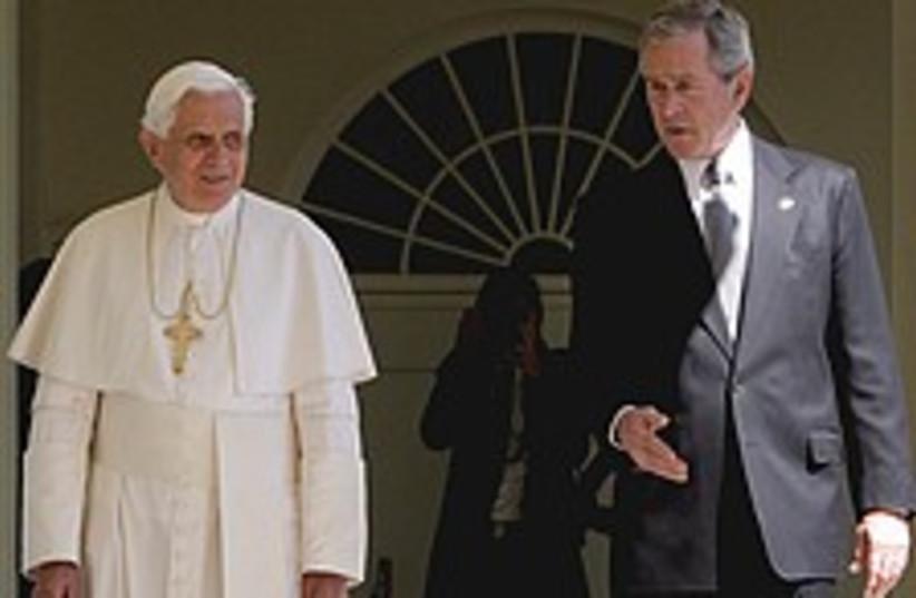 bush pope 224.88 (photo credit: AP)