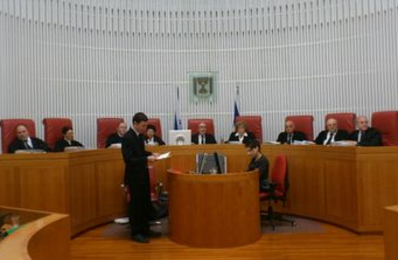 High Court of Justice panel 370 (photo credit: Yonah Jeremy Bob)