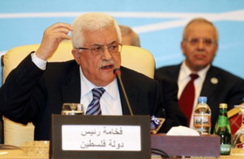 Abbas at Arab League meeting 370 (photo credit: REUTERS/Mohamad Dabbouss)