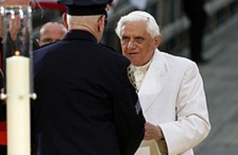 pope at ground zero nyc  (photo credit: )