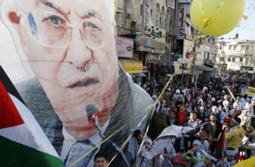 Rally marking Fatah's 47th anniversary in Nablus 370 (photo credit: REUTERS)