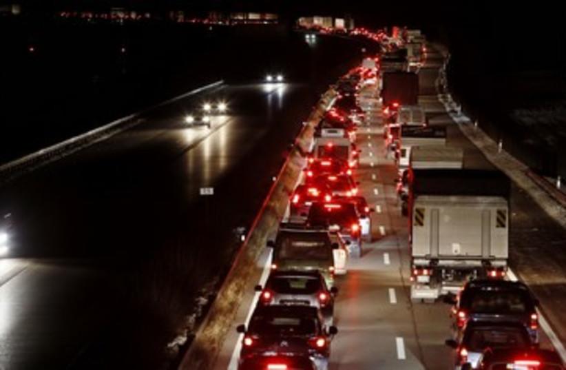 Traffic jam [illustrative] 390 (photo credit: REUTERS)