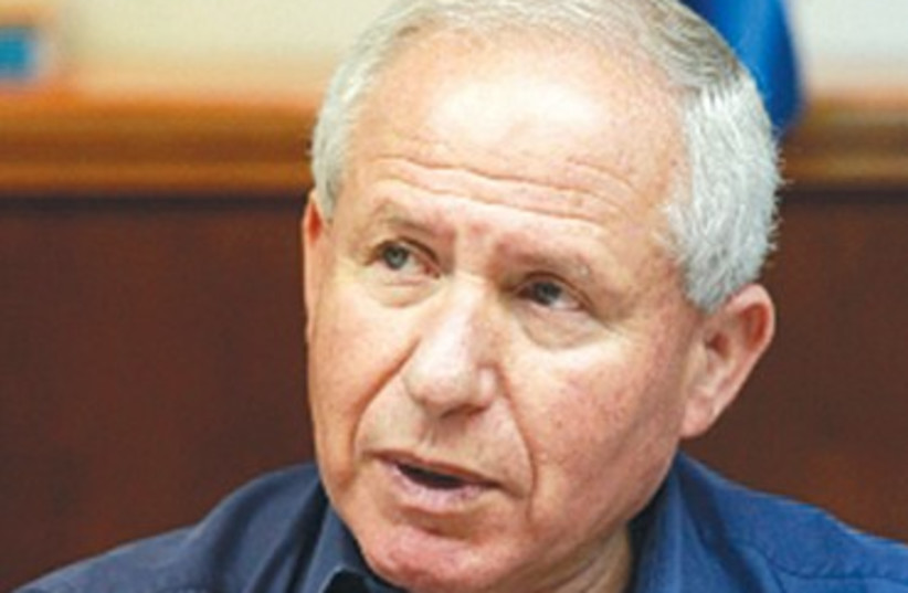 Former Home Front Defense Minister Avi Dichter 370 (photo credit: Marc Israel Sellem/The Jerusalem Post)