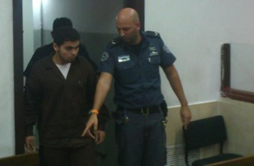 Muhammed Abed Al Jaffer Nasser Mafarja in court 370 (photo credit: ben hartman)