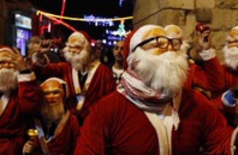 Christmas in Jerusalem (photo credit: Ronen Zvulun / Reuters)