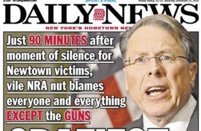NRA's Wayne LaPierre (photo credit: Daily News)