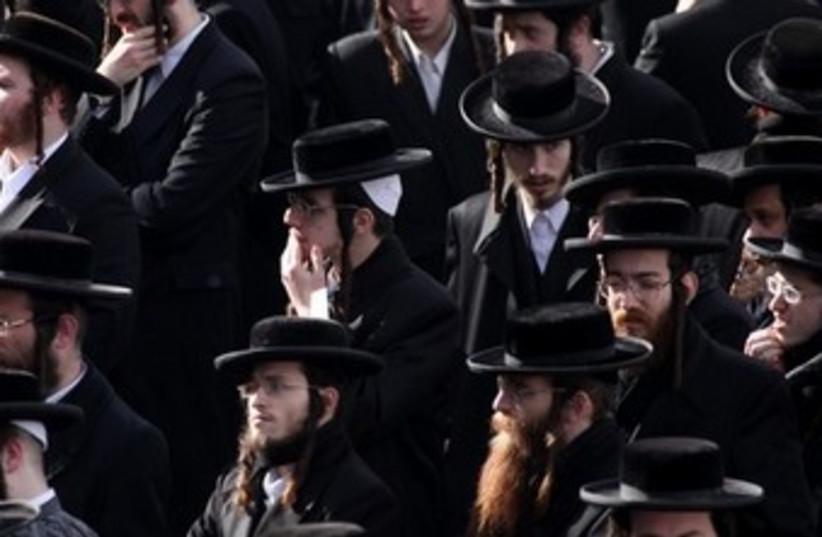 Haredi men in Jerusalem 370 (photo credit: Marc Israel Sellem / The Jerusalem Post)