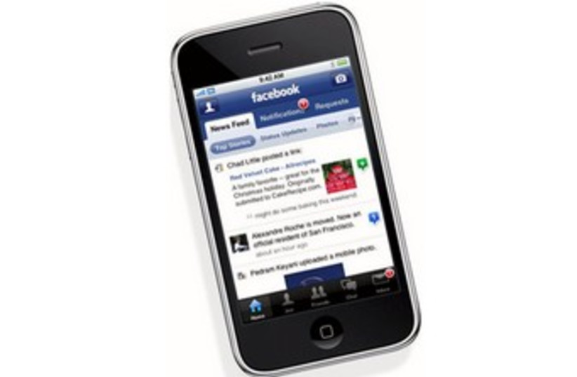 Facebook on iPhone 370 (photo credit: Courtesy)